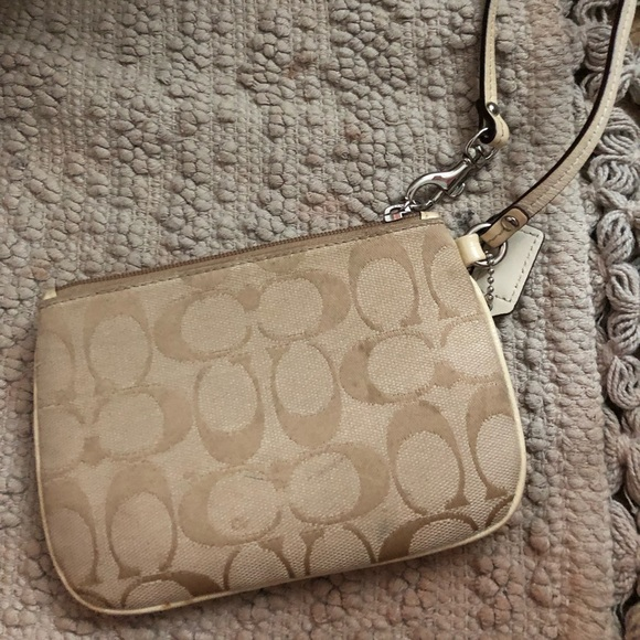 Coach Handbags - Coach gold wristlet